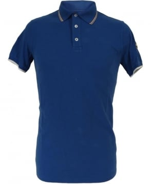 Colmar Originals Blue 7659W Grey Burgundy Trim Polo