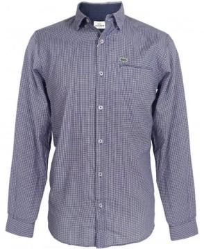 Lacoste Blue Aeroplane Pattern Shirt