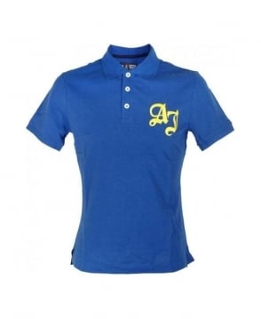 Armani Jeans Blue AJ Logo Polo
