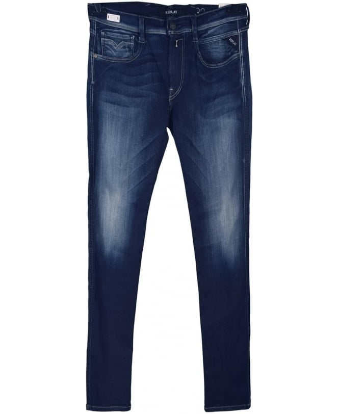 Replay Blue Anbass Hyperflex Slim Fit Jeans