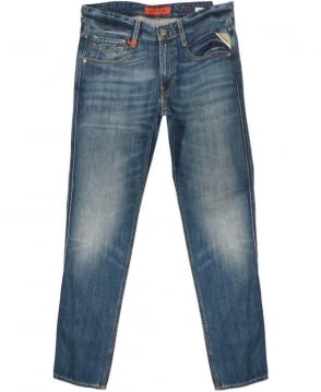 Replay Blue Anbass Slim Fit Jeans