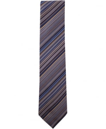 Paul Smith - Accessories Blue ANXA-522M-Y13 Signature Stripe 8cm Blade Tie