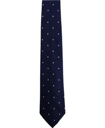 Paul Smith - Accessories Blue APXX/552M/Z22 Polka Dot 8cm Blade Tie