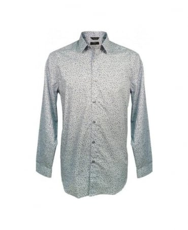 Paul Smith - London Blue Aran Floral The Byard D81 Shirt