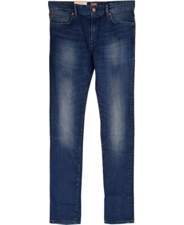 Hugo Boss Blue 'Barcelona' Regular Fit Jean