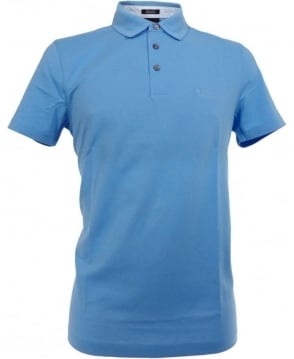 Hugo Boss Blue Bellano 14 Stripe Trim Polo