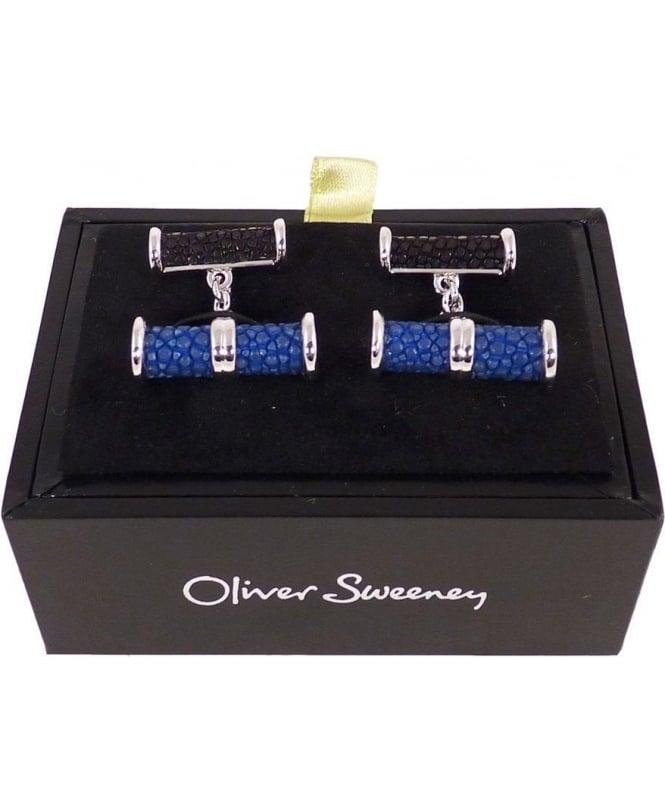 Oliver Sweeney Blue & Black Mylio Cufflinks