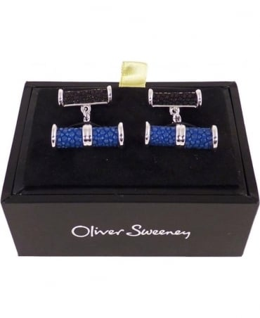Oliver Sweeney Blue & Black Mylio Cufflinks