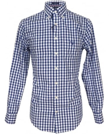 Gant Blue Bold Gingham Oxford Shirt