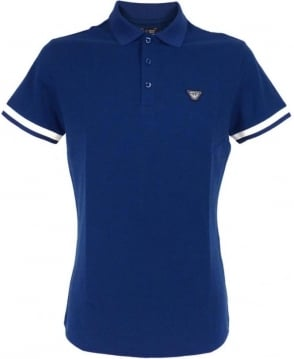 Armani Blue C6M97 Short Sleeve Polo Shirt