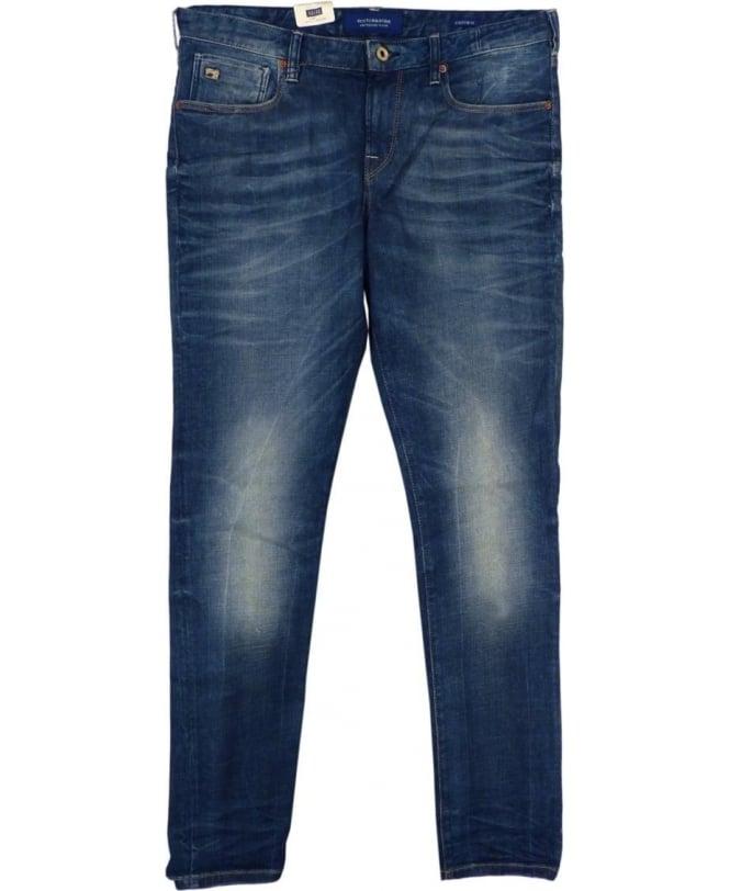 Scotch & Soda Blue 'Catch 22' Tailored Slim Fit Jeans