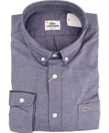 Lacoste Blue Chambray Pocket Shirt