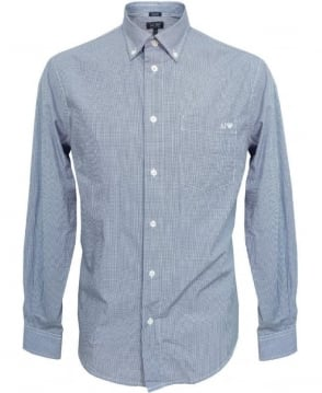 Armani Blue Check 06C04 Shirt