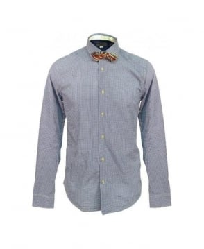 Scotch & Soda Blue Check 20030 Bowtie Shirt