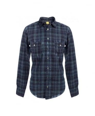 Hugo Boss Blue Check Eddaie 50256571 Shirt
