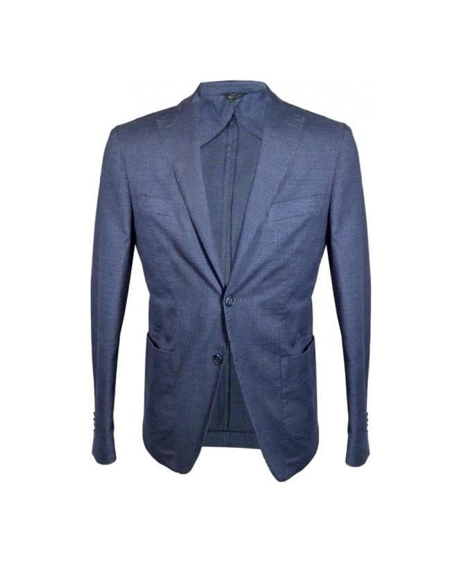 Acquaviva Blue Check Jedo Jacket