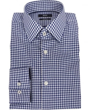 Hugo Boss Blue Check Slim Fit Shirt