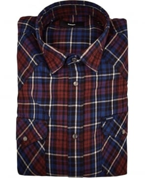 Diesel Blue Check Sulfedon Camicia Shirt