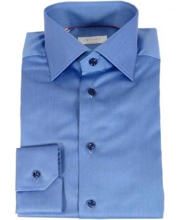 Eton Shirts Blue Contemporary Fit Formal Shirt