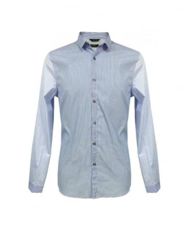 Paul Smith - London Blue Contrast Stripe Slim Fit Formal Shirt