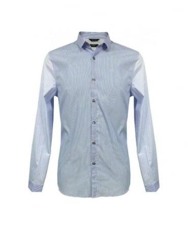 Paul Smith - London Blue Contrast Stripe Slim Fit Formal Shirt