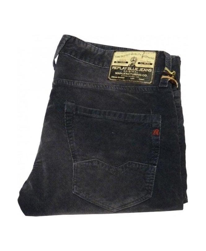 Replay Blue Cord Regular Slim Fit Jean