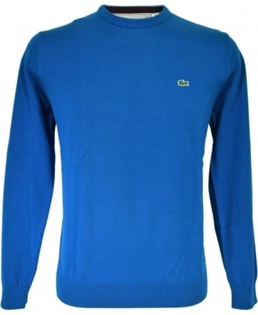 Lacoste Blue Crew Neck Knitwear Jumper