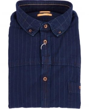 Hugo Boss Blue Culture E Striped Shirt