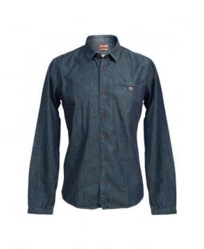 Hugo Blue Demin Ewalt 50253872 Shirt