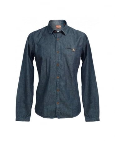 Hugo Blue Demin Ewalt 50253872 Shirt