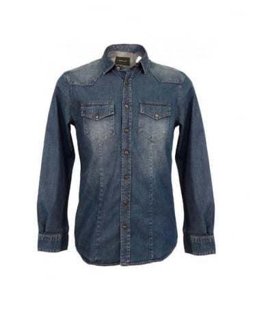 Hamaki-Ho Blue Denim CA316H Shirt