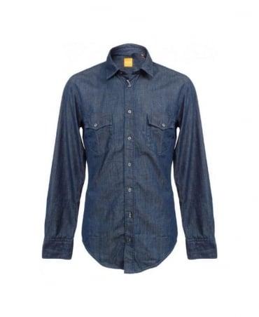 Hugo Boss Blue Denim Eddaiee 50259265 Shirt
