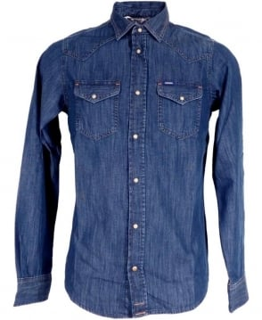 Diesel Blue Denim Two Chest Pocket Sonora Shirt