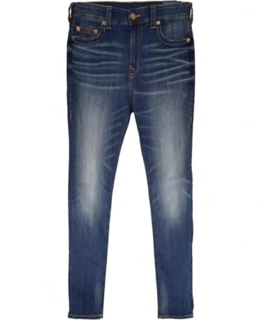 True Religion Blue Desert Highway MDAAS827T Jack Super Stretch Jeans