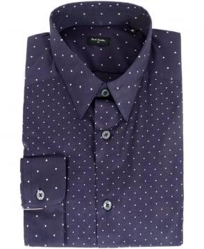 Paul Smith  Blue Diamond & Star Pattern Shirt