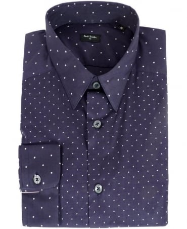 Paul Smith - PS Blue Diamond & Star Pattern Shirt