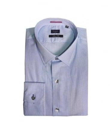 Paul Smith - London Blue Dogtooth Gents Formal Shirt