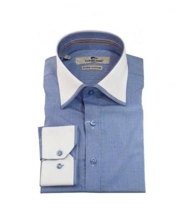 Claudio Lugli Blue Dress Regular Fit Shirt