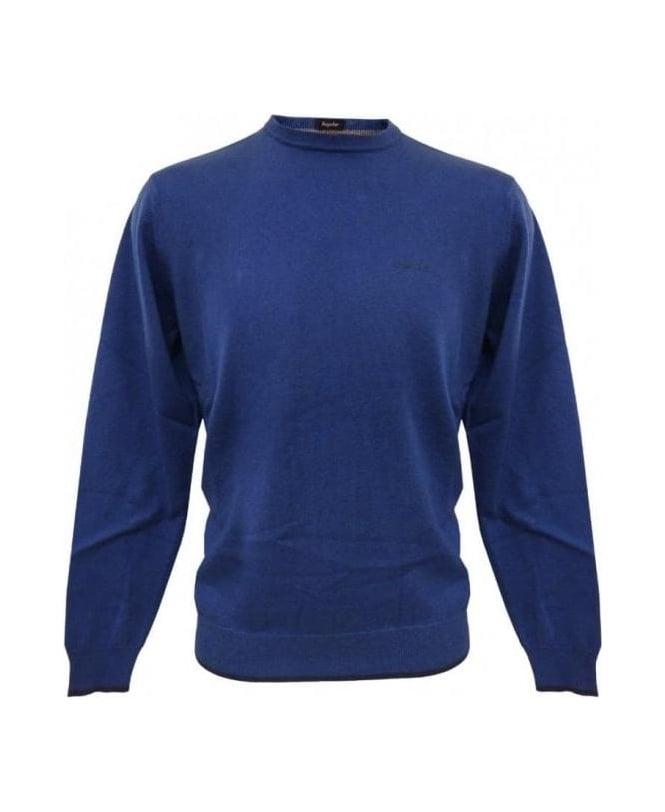 Armani Jeans Blue Elbow Patch Knitwear U6W83