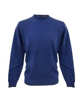 Armani Jeans Blue Elbow Patch Knitwear U6W83