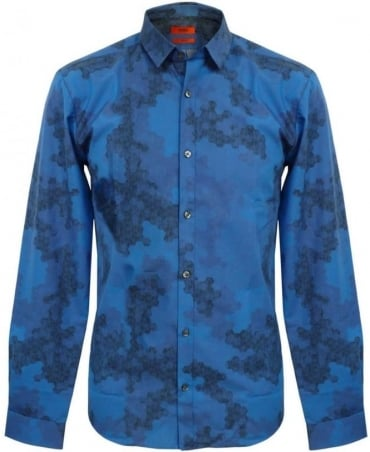 Hugo Blue Ero 50260387 Pattern Shirt