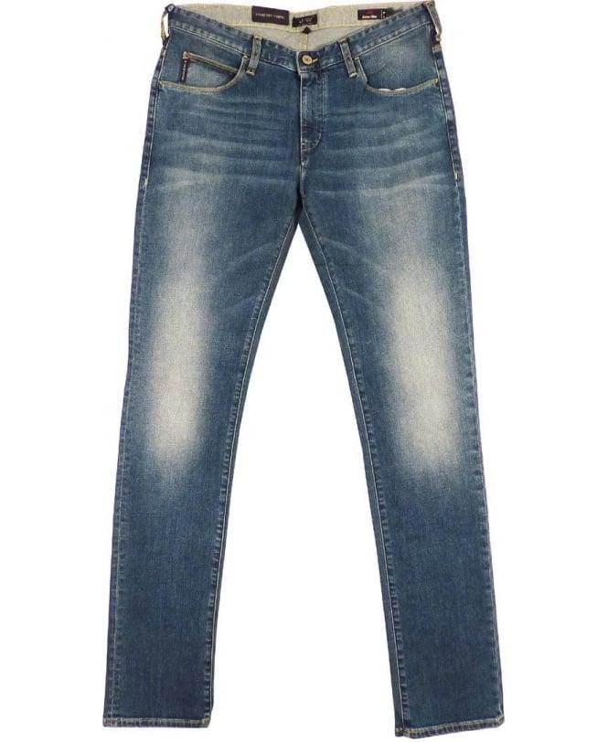 Armani Jeans Blue Extra Slim Fit J10 Jeans