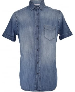Diesel Blue Faded Denim D-Kendall Shirt