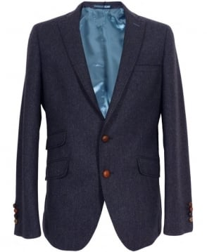 Holland Esq Blue Fine Herringbone Gents Pipe Jacket
