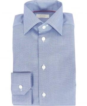 Eton Shirts Blue Fine Pattern Contemporary Fit Shirt