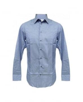 Armani Collezioni Blue Fine Stripe Slim Fit Shirt MCNM5L