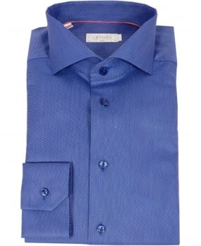 Eton Shirts Blue Fine Twill Slim Fit Shirt