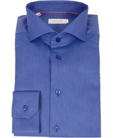 Eton Shirts Blue Fine Twill Slim Fit Shirt