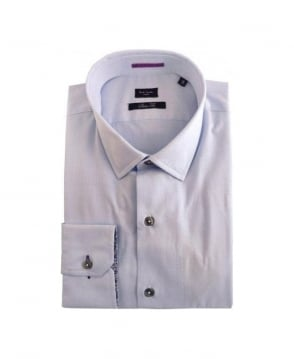 Paul Smith  Blue & floral Detail Formal Shirt