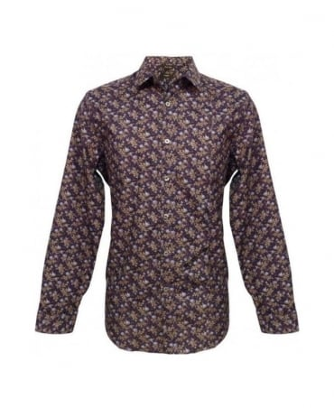 Paul Smith  Blue Floral Print Formal Shirt PJXL 916M D79